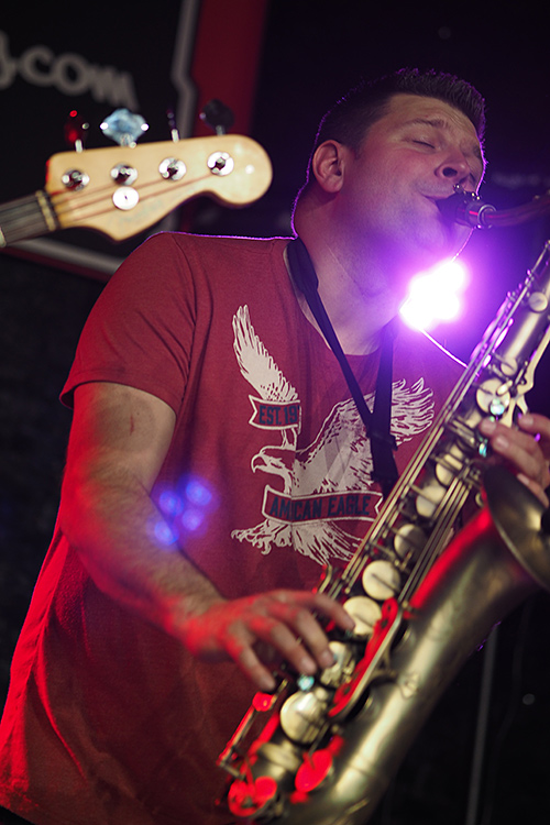 Andy Kelly, Saxophone